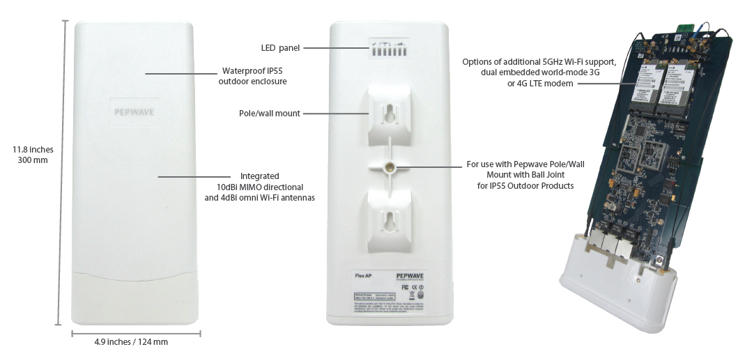 Pepwave Announces The Outdoor Flex Ap With Embedded 4g Lte
