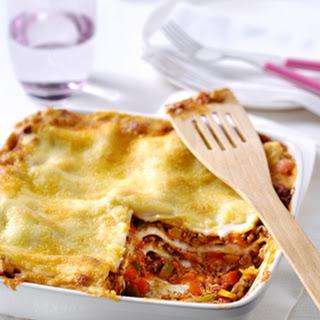 Lasagne Tradizionale met drie kleuren paprika's