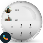 Flat White Phone Dialer Theme