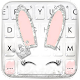 Silver Glitter Bunny Smile Keyboard Theme Download for PC Windows 10/8/7