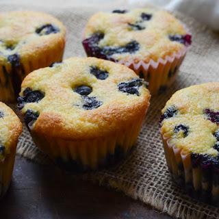 Lemon Blueberry Corn Muffins.