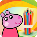 Pepy Pig Coloring icon