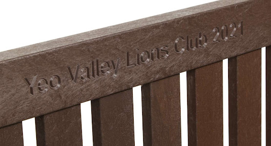 Engraved Recycled Plastic Bench Top Rail