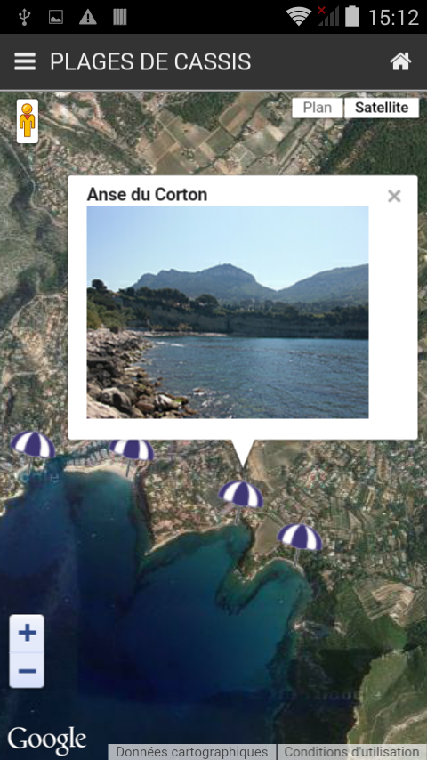 Cassis Infoplages- screenshot