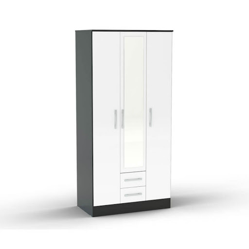 Birlea Lynx Black & White Bedroom Furniture