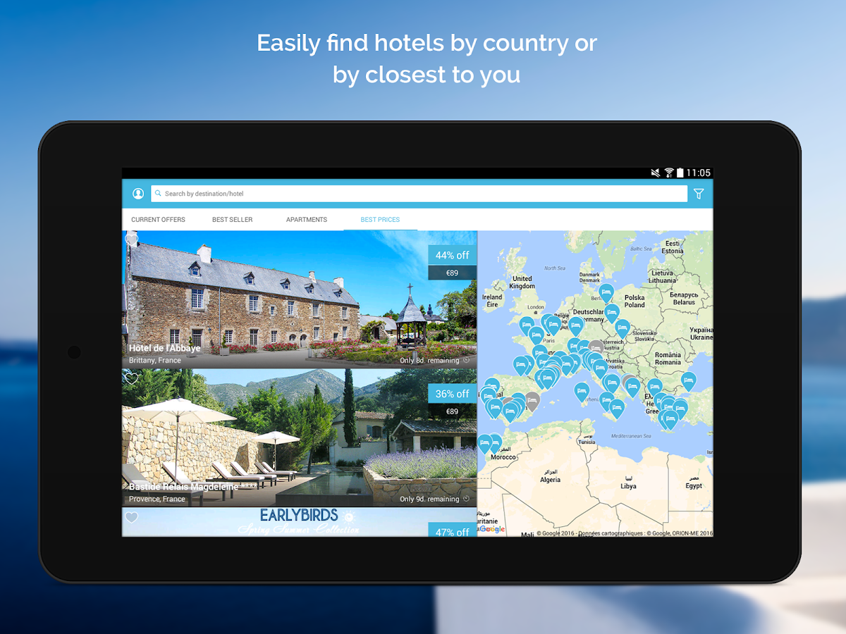 VeryChic hotels- screenshot