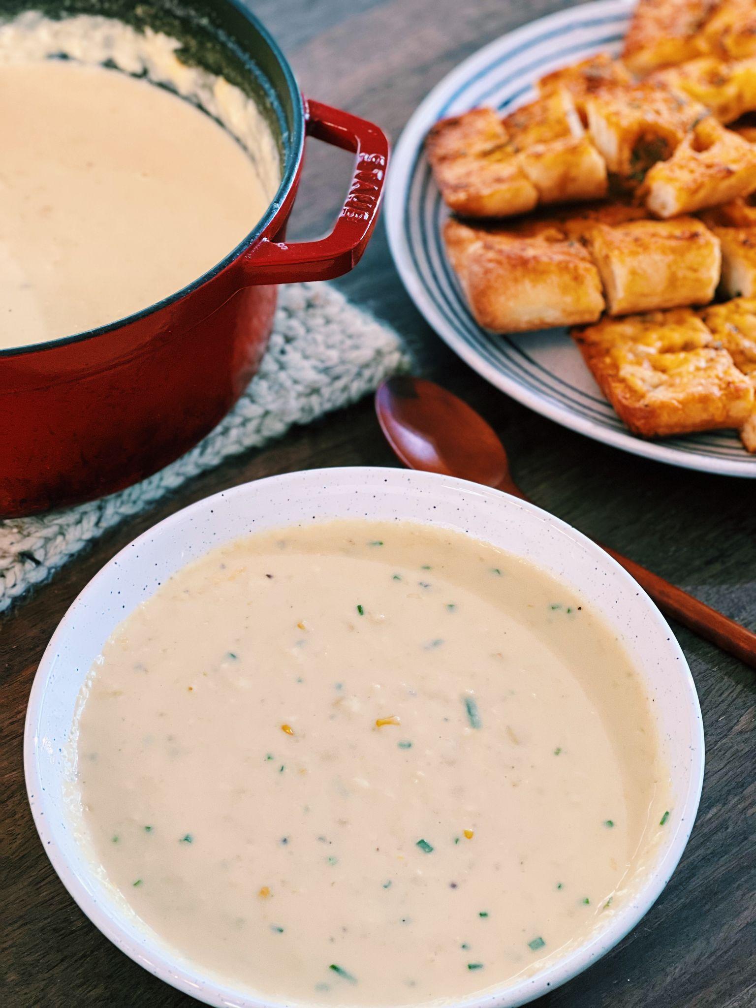 Creamy Corn Soup (Taiwanese Style!)