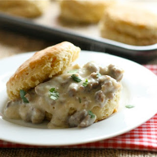 Southern Style Biscuits with Sweet Maple Sausage Gravy