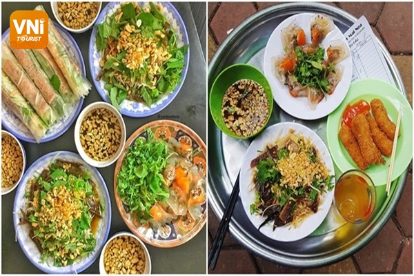 Hanoi cuisine in Ham Long street