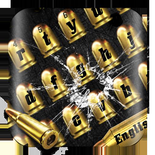 Gold Gunnery Bullet Keyboard