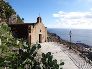 Photo: Nearly at the top of the steps, an ancient chapel with a fab view