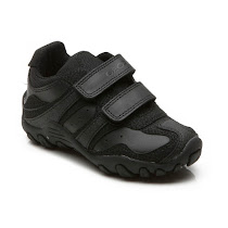 Geox Crush Leather Trainer SHOE