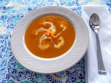Chilled Cantaloupe, Mango and Peach Soup