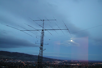 Photo: TH7DXX , for this operation it was only used on 15 meters, dipole below the beam.