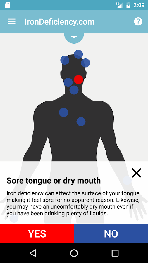IronDeficiency Symptom Browser- screenshot