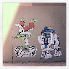 Photo: Added 15 more #Austin #streetart photos to this album including this #starwars wheatpaste of Yoda and R2D2 for #StreetArtSunday curated by myself +Peter Tsai +Luís Pedro +Mark Seymour   This spot is at one of thee busiest intersections in Austin and it gets painted over every couple of weeks, but new art always goes up a day or two later.  This photo was taken with Instagram... I probably take more photos with my smartphone than I do with my DSLR because it's pure joy. More on my thoughts about cellphone camera http://www.petertsaiphotography.com/blog/2011/07/31/photography-everywhere-quick-light-and-easy-mexico-travel-photography-and-editing-on-instagram/  #graffiti #yoda #r2d2 #breakdance #80s #bboy