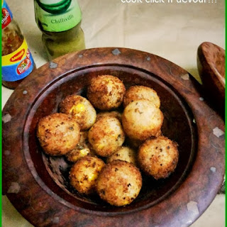 Potato Corn Cheese Balls.