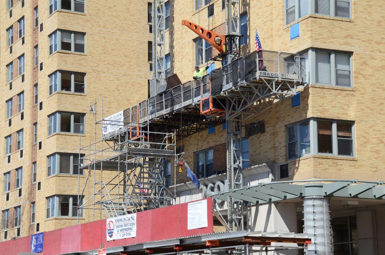 superior scaffold, scaffolding, mast climber, fraco, philadelphia, access, dugan, canopy, overhead protection