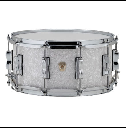 "14"" x6,5"" Ludwig Classic Maple - LS403 - White Marine Pearl"