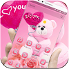 Theme Pink Teddy Bear Love