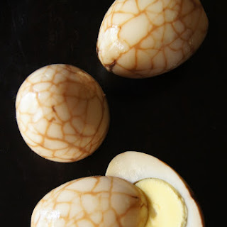Chinese Marbled Tea Eggs.