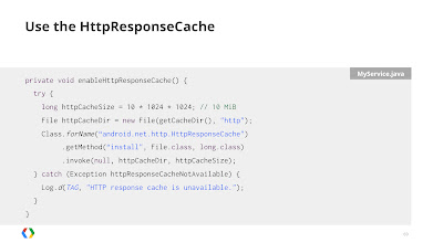Photo: Use the HTTP Response Cache on Android 4.0+ devices to get a managed cache that does the hard work for you.