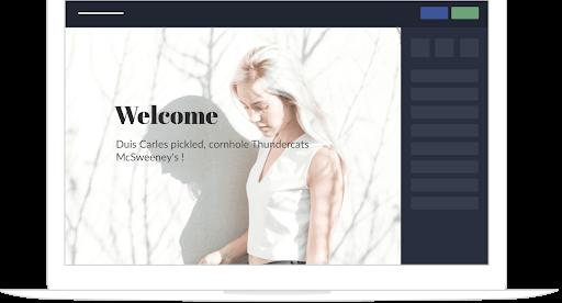 Créer un site une page