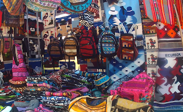 Photo: Kitschy products are available in many locations for tourists. Most of it is from Peru.
