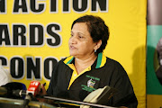 ANC deputy secretary-general Jesse Duarte during a media briefing on December 3 2013