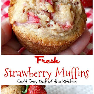 Strawberry Muffins With Fresh Strawberries Recipes.