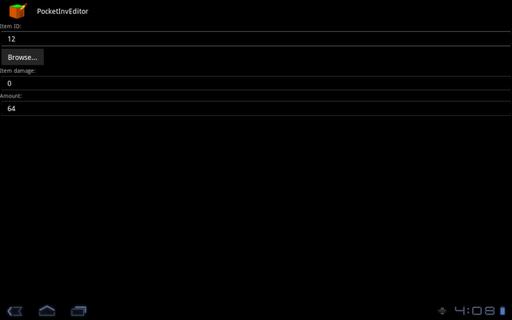 PocketInvEditor screenshot 2