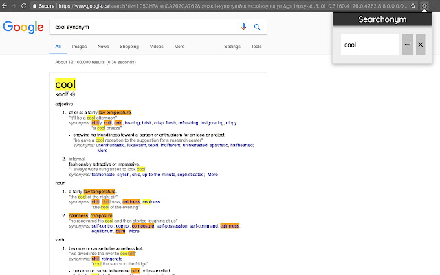 Searchonym