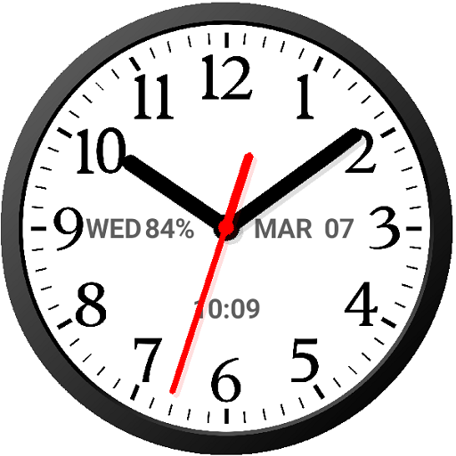Analog Clock Widget Plus Size-7 Android APK Download Free By Style-7