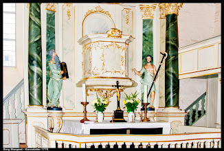 Photo: Der Barock Altar in der Stadtkirche zu Burg Stargard (erbaut ca. 1770)