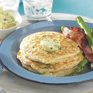 Savory Pancakes with Bacon and Asparagus.