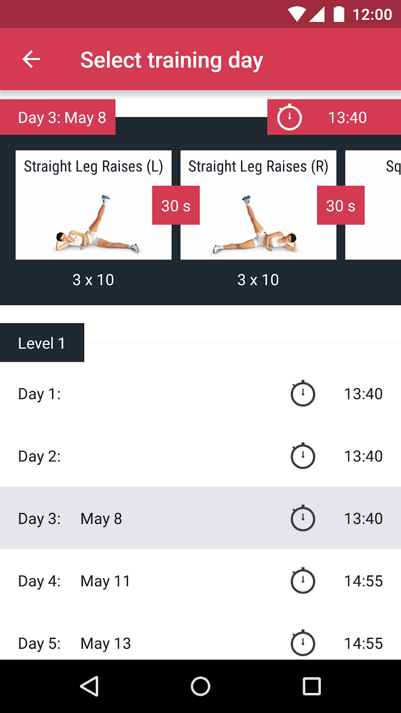 Runtastic Leg Trainer - Workouts & Exercises Screenshot 2