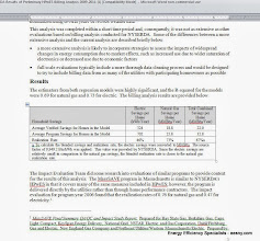 Photo: NYSERDA 2009-2011 analysis  .76 gas and .47 electric realization.  Bottom paragraph - we suck about the same as MassSAVE
