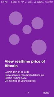 Bitcoin Realtime - náhled