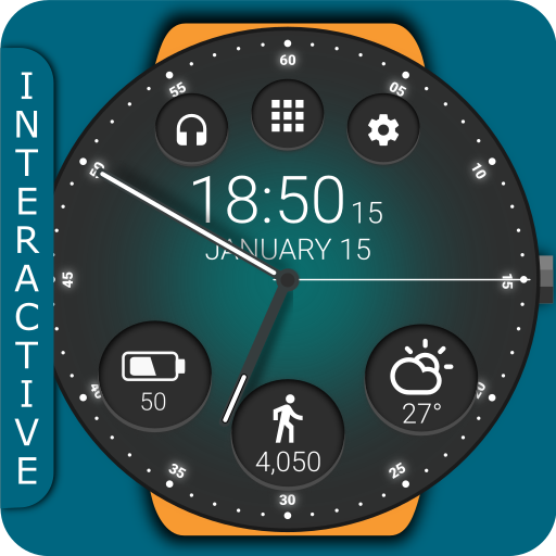 Black Classic Watch Face Icon