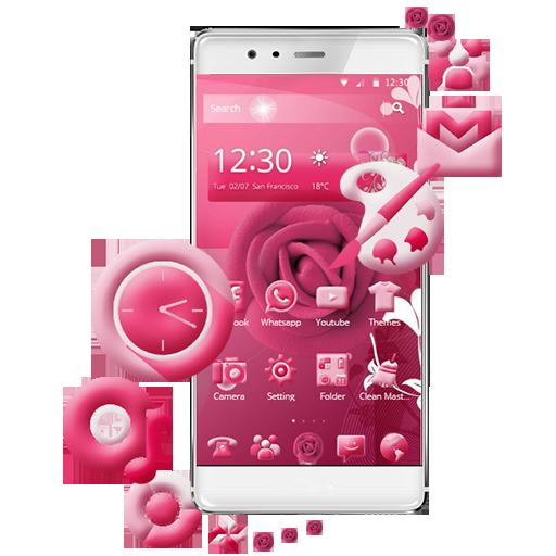 Pink Rose Mobile Theme