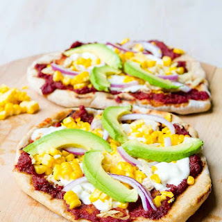 Grilled BBQ Chicken Pizza with Avocado.