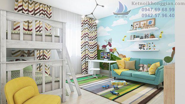 thiết kế phòng ngủ cho bé đẹp