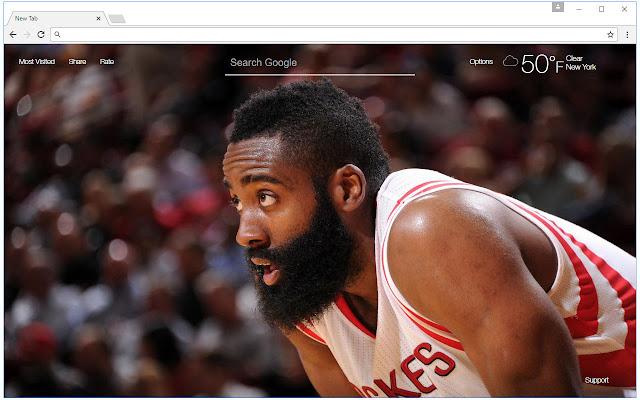 James Harden Wallpaper HD New Tab NBA Themes