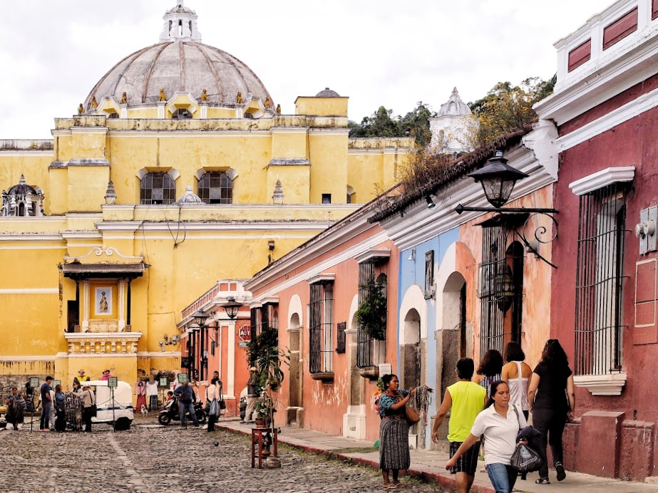 Colorful Antigua, a UNESCO heritage site and one of Guatemala former capital cities.