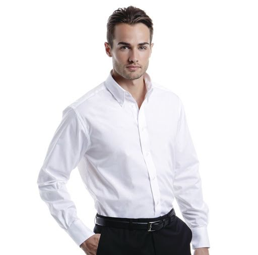 Kustom Kit Cotton Long Sleeve Shirt (Mens)