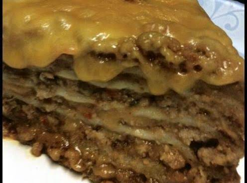 Yummy & Easy Layered Mexican Casserole.