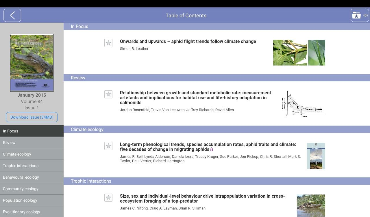 Journal of Animal Ecology- screenshot