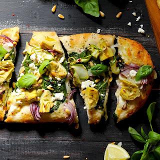 Artichoke & Spinach Flatbread Pizza.
