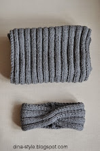 Photo: шарф и повязка Серо-черный