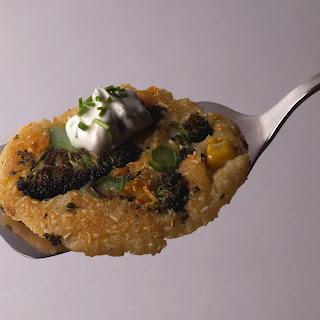 Broccoli-Puffer mit Quark